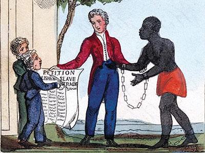 Illustration of a slave-owner - UCL Festival of Culture