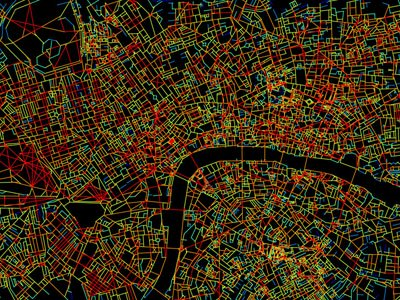 Space syntax map of London