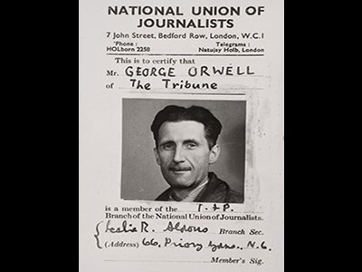 George Orwell NUJ Card