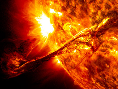 A coronal mass ejection. Credit: NASA