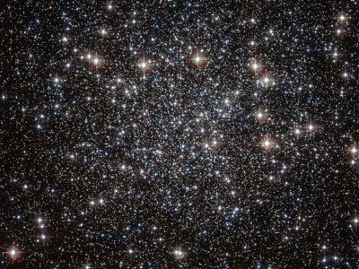 Hubble sky full of starts