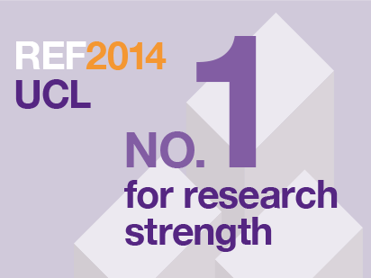 UCL No.1 for research strength