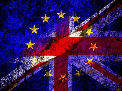 Union Jack Brexit collage