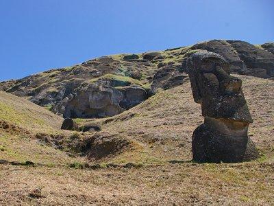 Rano Raraku quarry bay on Easter Island