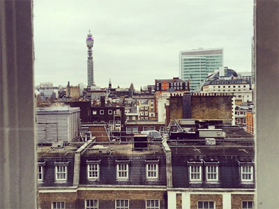 Rooftop view across UCL's Bloomsbury campus by Bong Kyung Jeon