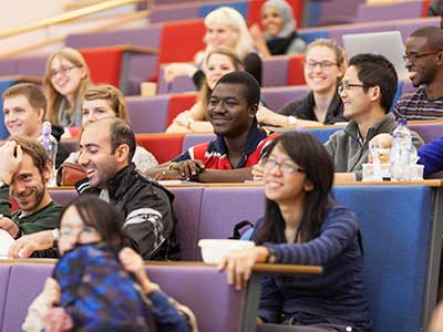 Graduate students in lecture theatre